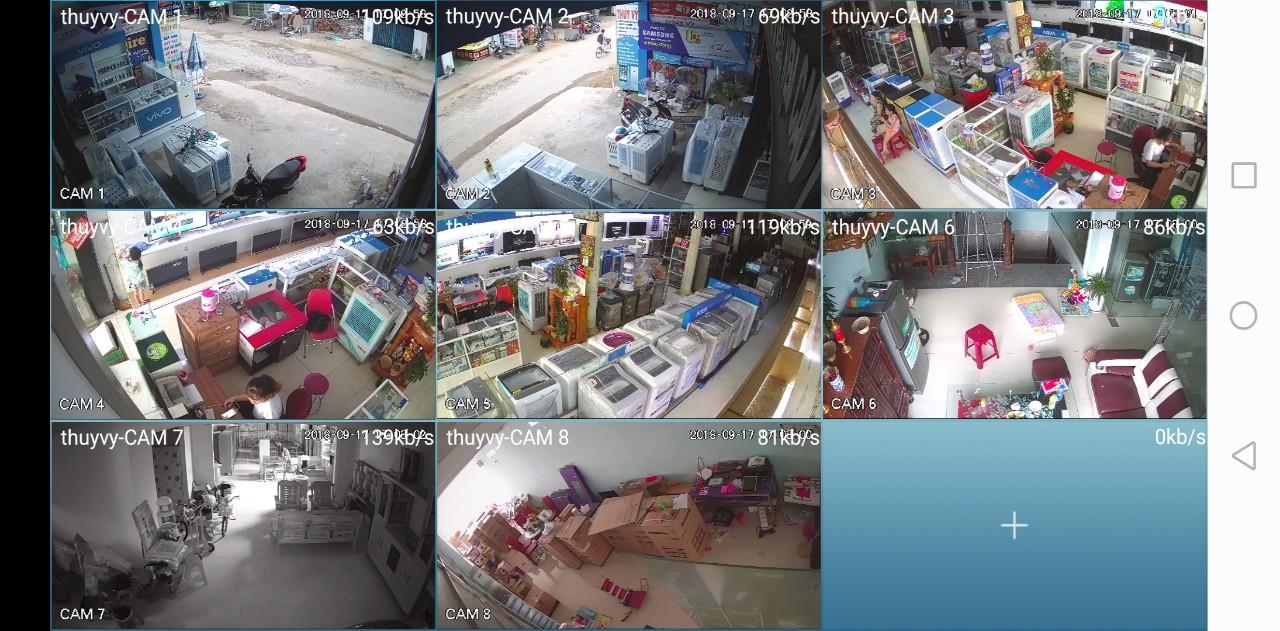 Thi công lắp đặt hệ thống Camera giám sát cho Trung tâm Điện máy Thúy Vỹ